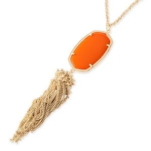 Kendra Scott orange Rayne necklace
